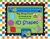 3D Shapes Sorting Board with Shape Choice Pics for Autism
