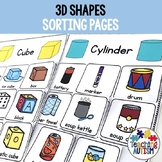 3D Shapes Sorting Activity