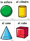 3D Shapes Spanish Posters