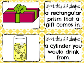 3D Shapes {in the world} Spot It & Steal It Math Game and Word Wall