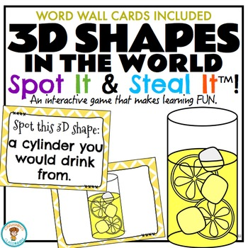 3D Shapes {in the world} Spot It & Steal It Math Game and