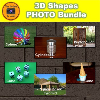 3D Shapes Stock Photo Bundle