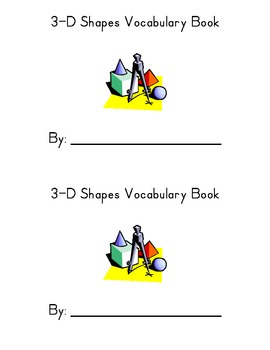 3D Shapes Student Vocabulary Book