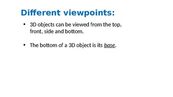 3D Shapes TOP/SIDE/BOTTOM VIEW POWERPOINT | Year 5 MATHS (ACMMG111)