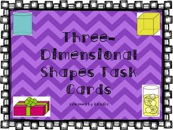 3D Shapes Task Cards