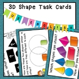 3D Shapes Task Cards HOTS Bloom's Taxonomy Grades 1, 2 and 3 US
