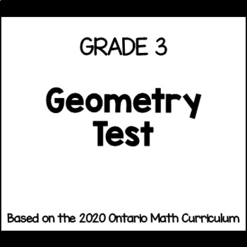 3D Shapes Test for Grade 3 (Ontario Curriculum)