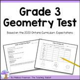 Geometry Test (Grade 3)