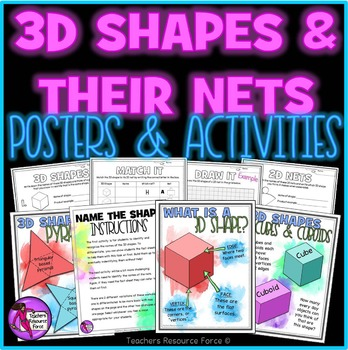 Shapes and their Nets: Posters, Activities and clip art