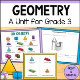 3D Shapes Unit for Grade 3 (Ontario Curriculum)