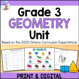 Geometry Unit (Grade 3) - Distance Learning