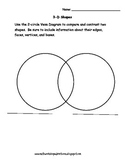 3D Shapes Venn Diagram
