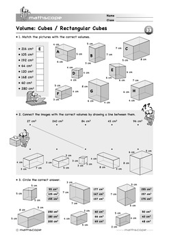 3D Shapes: Volume of Cubes and Boxes