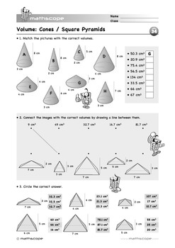3D Shapes: Volume of Pyramids and Cones