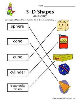 3D Shapes Worksheet