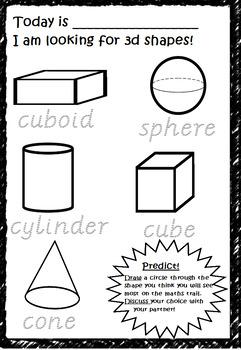 3d Shapes Worksheets Teachers Pay Teachers