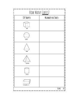 3D Shapes Worksheet Pack