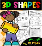 3D Shapes-Worksheets