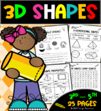 3D Shapes Worksheets   Introduction & Review