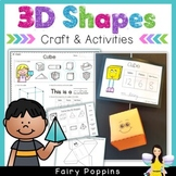 3D Shapes Worksheets (3D Nets included)