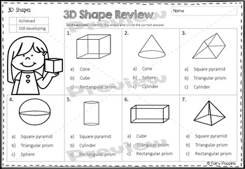 3D Shapes Worksheets (3D Nets included) by Fairy Poppins | TpT