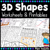 3D Shapes Worksheets And Printables Distance Learning