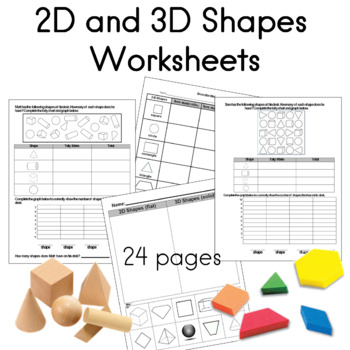 2d And 3d Shapes Worksheets | Teachers Pay Teachers