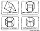 3D Shapes Write the Room - 14 cards four versions, four recording sheets