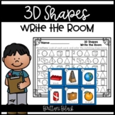 3D Shapes- Write the Room