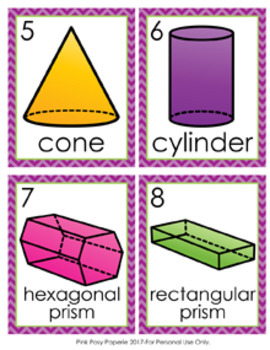 3D Shapes Write the Room Activity