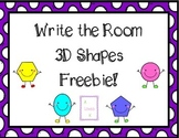 3D Shapes Write the Room *Freebie*