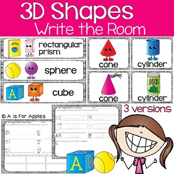 3D Shapes Write the Room