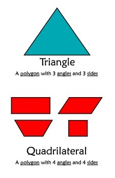 3D Shapes and Angles Posters