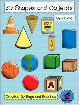 Clipart: 3D Shapes and Objects Pack