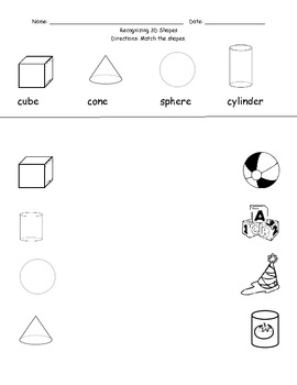 3D Shapes for Early Math Literacy