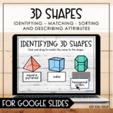 3D Shapes for Google Slides - Distance Learning