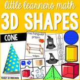 3D Shapes for Preschool, Pre-K, & Kindergarten - Math for Little Learners