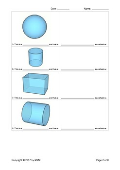 3D Shapes have Shadows