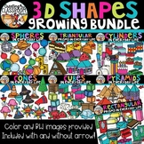 3D Shapes in Everyday Life Clipart Bundle {3D Shapes Clipart}