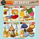 3D Shapes in Real Life Clip Art Bundle