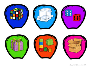 3D Shapes in the Real World- Flower Puzzles Math Center!