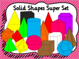 3D Shapes or Solid Shapes Clip Art