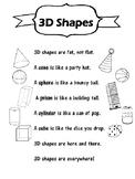 3D Shapes (poem + practice sheet)