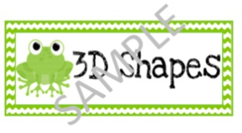 3D Shapes posters for Calendar (FROG THEME)