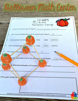 3D Shapes with Pumpkin Candy