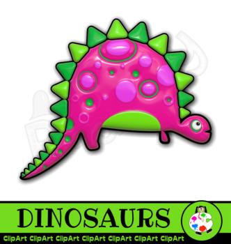 3D Shiny Dinosaur Clip Art