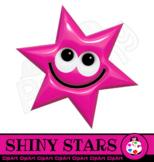 3d Shiny Happy Clip Art Stars