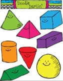 3D Smiling Shapes COMBO Clipart Set