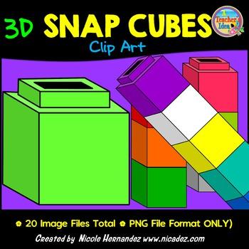 Snap Cubes Clip Art for Teachers
