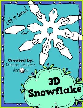 3D Snowflake Classroom Craft